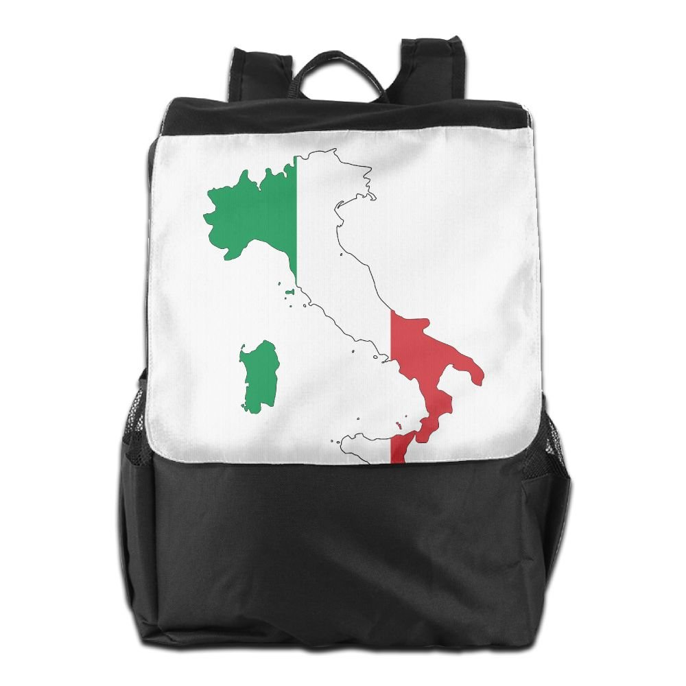 SZYYMM Unisex Italy Flag Travel Backpack,100% Polyester,Resist Dirty Waterproof Adjustable Shoulder Bag,For Travel/Outdoor Sports/Camping/Bussiness Trip