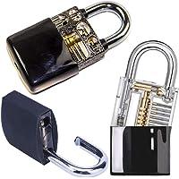 Loboo Idea 3-Pack Hangslot Gereedschap Set Training Tools Met Praktijk Hangslot Siliconen Case/Lock Pick Set…