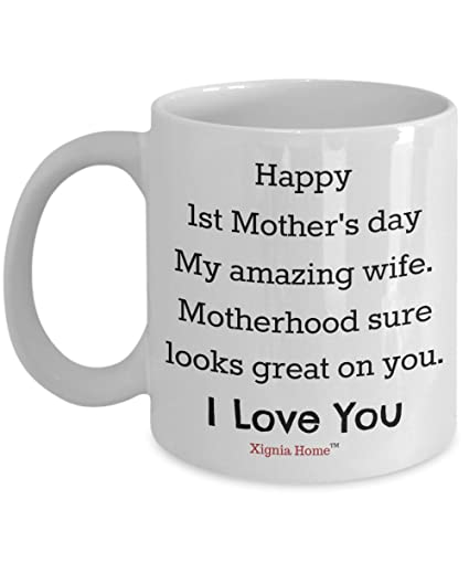 Amazon.com: First Mother\'s Day Coffee Mug: Xignia Home ...