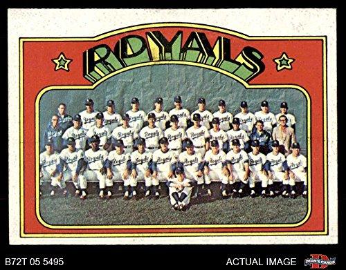 - 1972 Topps # 617 Royals Team Kansas City Royals (Baseball Card) Dean's Cards 6 - EX/MT Royals