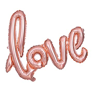 30 inch love hand written style letter foil balloon banner romantic wedding independence day