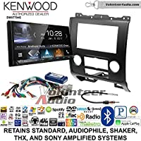 Volunteer Audio Kenwood DMX7704S Double Din Radio Install Kit with Apple CarPlay Android Auto Bluetooth Fits 2008-2012 Ford Escape, Mazda Tribute, Mercury Mariner (Black)