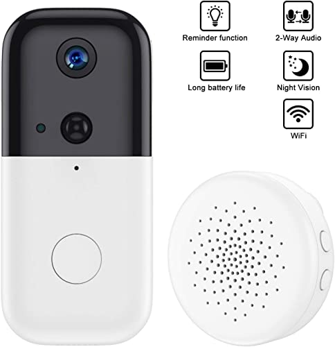 FUVISION Doorbell Security Camera with Chime,1080P Video Wireless Camera WiFi,Two-Way Audio,Motion Detector,Night Vision,Home Surveillance Cam-iOS Android App