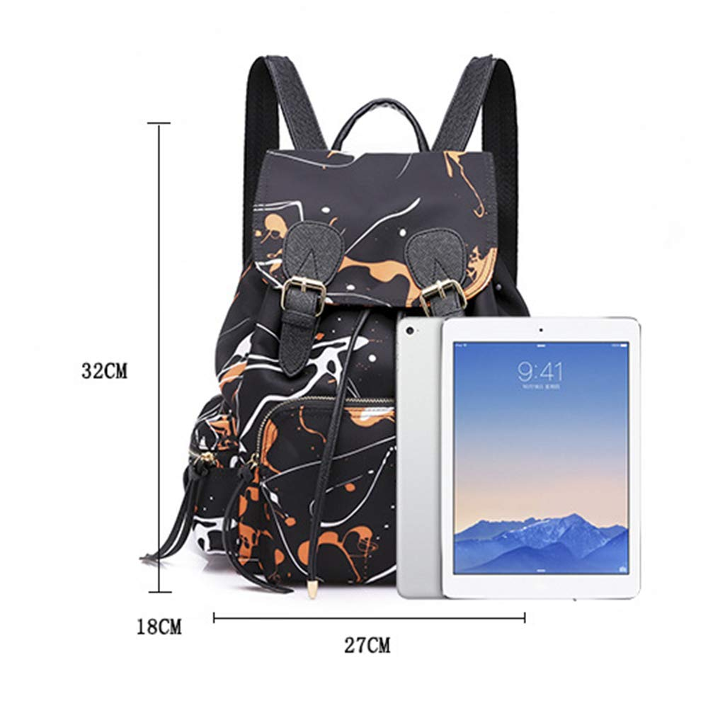 Rhfemd 2PCS Unisex Backpack School Shoulder Bag Trekking Rucksacks Nylon Handbag Travel Dayback Casual Bookbag