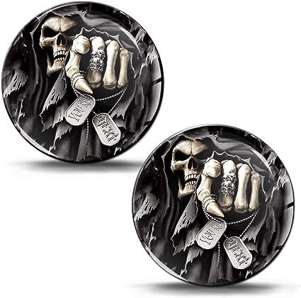 Skinoeu 2 X Schalthebel Aufkleber Schaltknauf Emblem Schädel Totenkopf You Re Next Silikon Stickers Durchmesser 30mm Auto Moto Zubehör Motorrad Jdm Ks 8 Auto