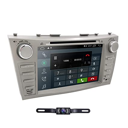 Hizpo Car DVD Player for Toyota Camry 2007 2008 2009 2010 2011 Android 9 0  Quad Core 8 Inch Screen GPS Navi BT Radio RDS DTV AUX USB Android/iPhone