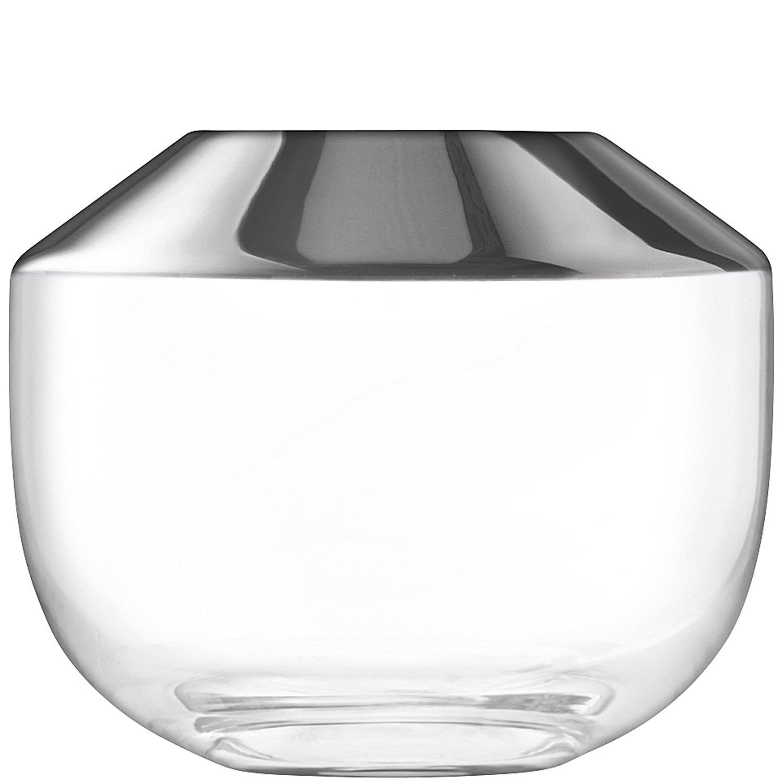 LSA フラワーベース花器 Platinum W14.5xD14.5xH25cm LFM12 B074TNC9GG W14.5xD14.5xH25cm  W14.5xD14.5xH25cm