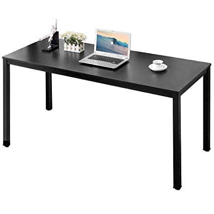 Simple office table Unique Amazoncom Auxley Computer Desk Modern Simple Office Writing Desk For Home Office Double Deck Wood And Metal Office Table 60 Black Office Products Alibaba Amazoncom Auxley Computer Desk Modern Simple Office Writing Desk