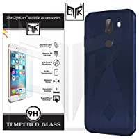 TheGiftKart 10 Or G / 10.Or G / Tenor G Back Cover + Tempered Glass: Flexible Rugged Case/Anti Slip/Premium Finish (Blue) + HD Tempered Glass