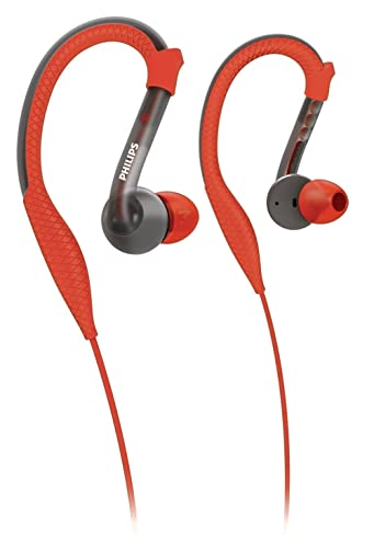 Philips ActionFit Sports Ear hook Headphones SHQ3200/28, Orange and Grey