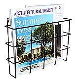 Modern Wall Mounted Black Metal Magazine Storage Basket/Hanging Office File Holder/Newspaper Rack