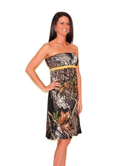 Amazon.com: Camo Diva ZOEY Short Camo Dress with Blaze Orange Trim ...