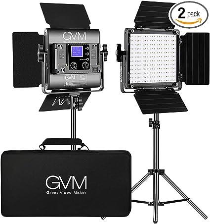 Amazon Com Gvm Great Video Maker Rgb Led Video Lighting Kit 800d Studio Video Lights With App Control Video Lighting Kit For Youtube Photography Lighting 2 Packs Led Panel Light 3200k 5600k