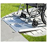 2' Aluminum Fold Portable Wheelchair Ramp Mobility Handicap Suitcase Threshold