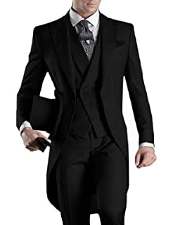 Amazon.com: jydress hombre caballero 3 piezas FRAC trajes ...