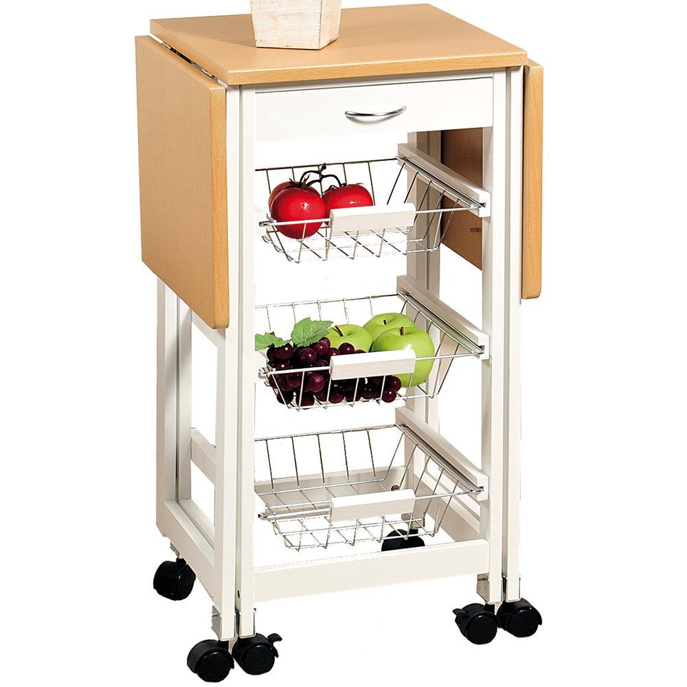 COSTWAY Küchenwagen Servierwagen Küchentrolley Beistellwagen ...