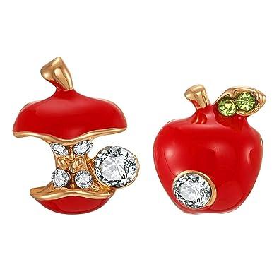 5802f9f6b3ee8 FAMARINE 3D Lifelike Red Cherry Drop Earrings Cute Funny Acrylic Resin  Fruit Gold Dangle Earring for Girls Women Kids Gifts with Box