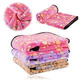 kiwitatá® Dog Blanket Soft Pet Puppy Cat Cozy Sleeping Cushion Mat Washable Warm Bed Blankets Crate Pads for Small Animals (Large, Pink)