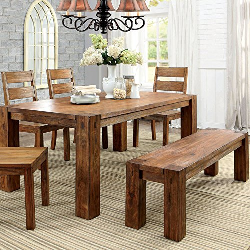 Lawrie French Country Dark Oak 6-Piece Dining Set with Bench
