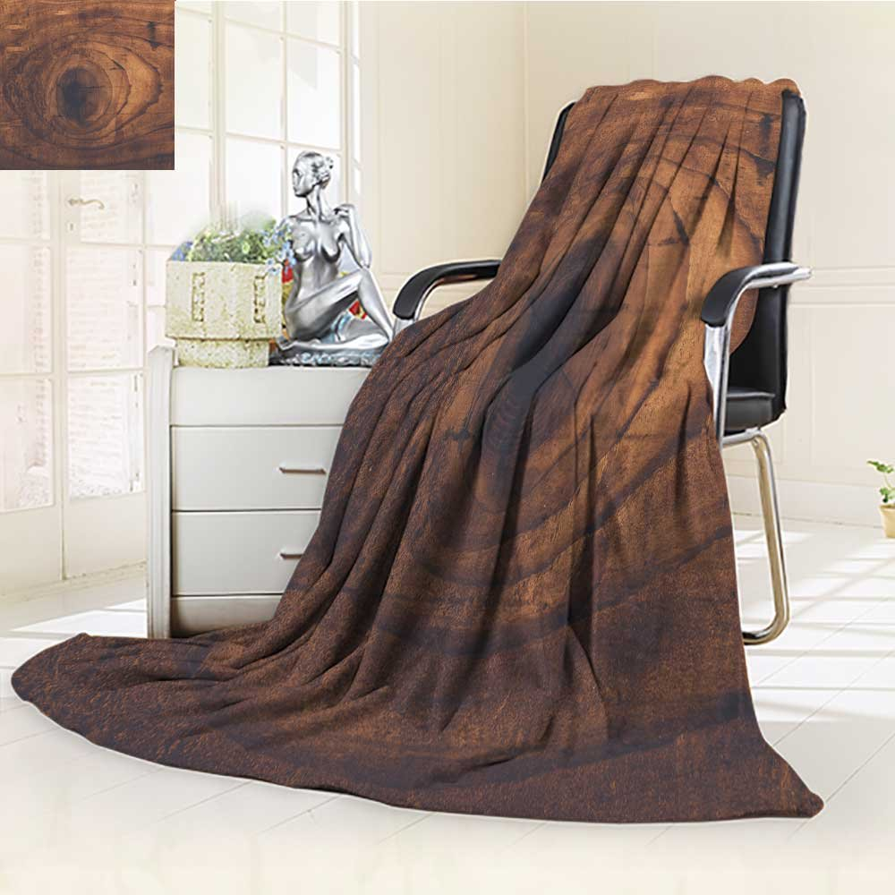 UHOO2018 Luminous Microfiber Throw Blanket Retro Toned Rustic Wood Knot on Oak Plank Texture Used Stained Wooden Board wit Glow in The Dark Constellation Blanket, Soft and Durable Polyester(60''x 50'')