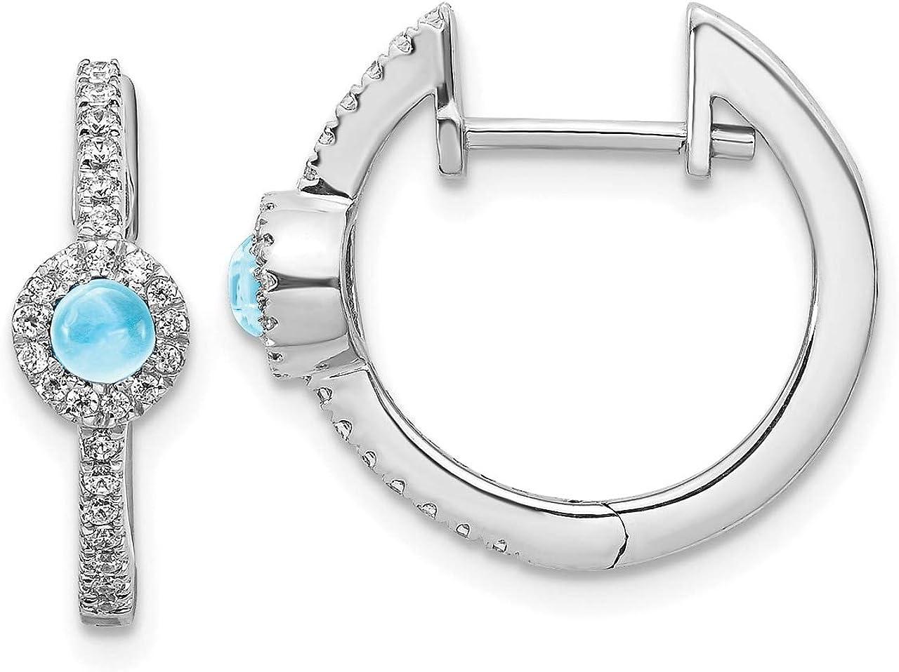 Lex /& Lu Sterling Silver Diamond /& White Topaz Earrings Jacket LAL113406