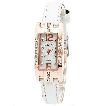 Xinantime Relojes Mujer,Xinan Reloj de Pulsera Cuarzo de Las Mujeres Moda (Blanco)