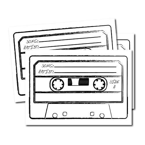 Wedding DJ Song Request Cards Reception Favors Retro Tape Games