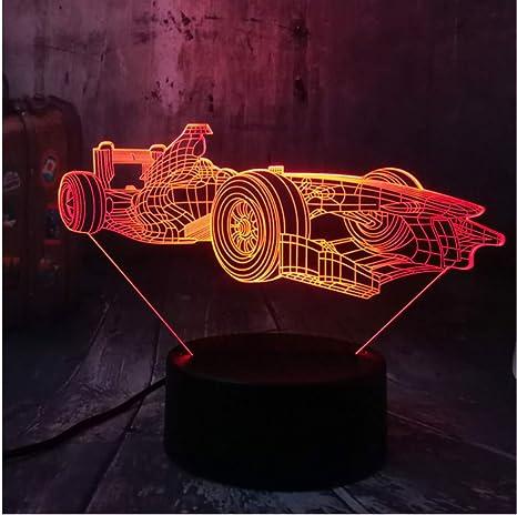 Fórmula fresca Coche de Carreras 3D Led Luz de Noche ...