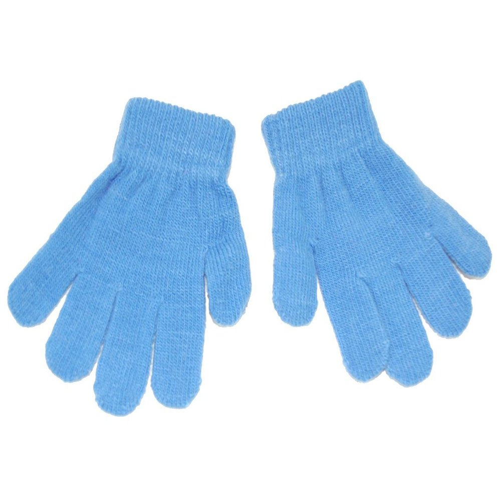 Childrens Winter Woolly Knitted Warm Magic Gloves - Grey Simply Gorgeous