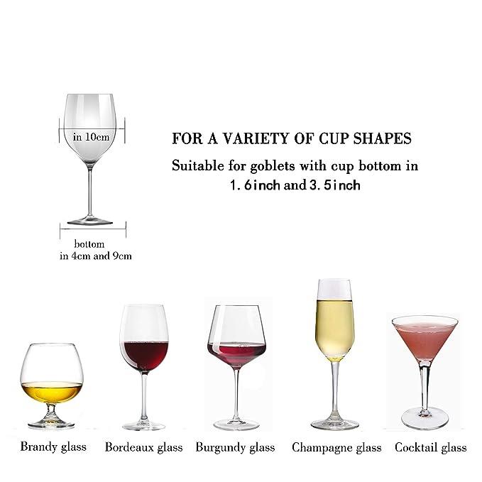 Amazon.com: DEFWAY - Estante para copas de vino, para debajo ...