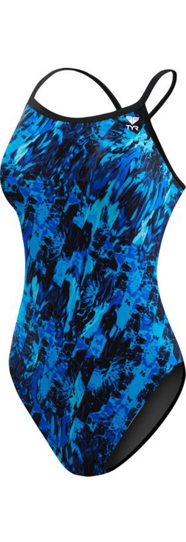 TYR Women's Glisade Diamondfit Swimsuit, Blue, Size 40
