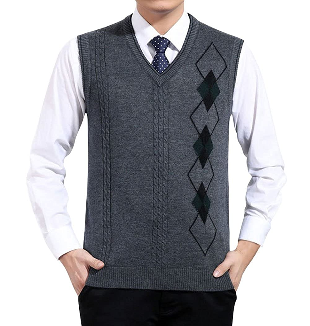 Lyamazing Men's Fine Gauge V-Neck Sweater Vest