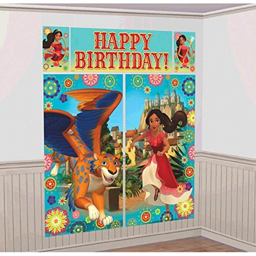 Disney Princess Elena of Avalor Kids Party Scene Setter Wall Decorations Kit - Kids Birthday and Party Supplies -