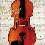 "Paperproducts Design 1331712 Lunch Napkin with Exquisite Concerto Violino Design, 6.5 x 6.5\"", Multi"