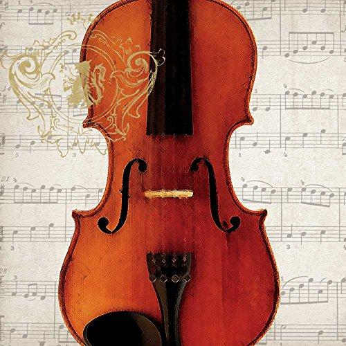 Paperproducts Design Concerto Violino Beverage Napkins, 5 x 5