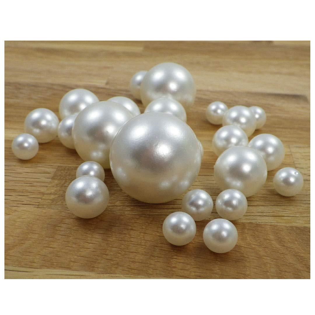 Perla Cadena Decoraci/ón perla cuerda Decorar /Árbol de Navidad dekoperlen Cadena Decoraci/ón Navidad /Árbol Cadena, pl/ástico, S-P8-01-White, 6mm