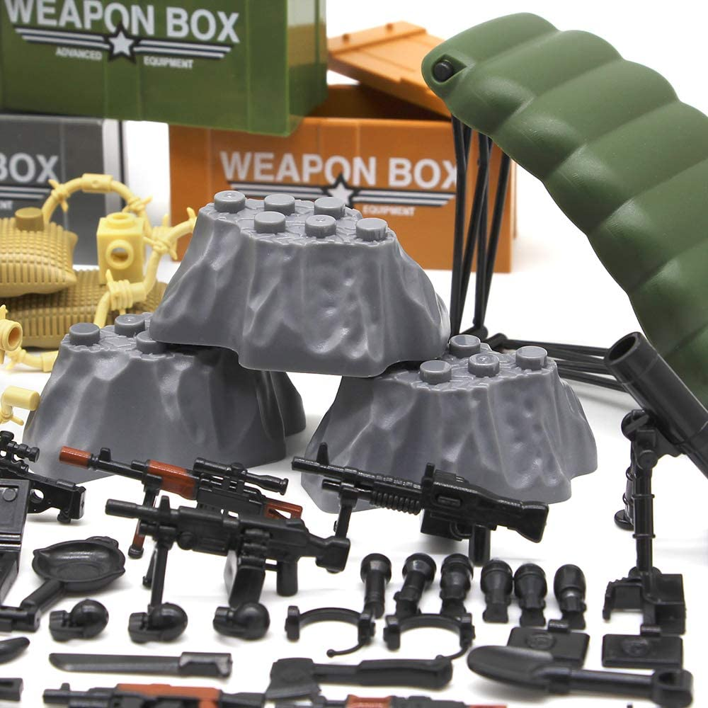 Military Army Includes 7 AK Variants BrickArms AK CRATE Lot Tan Crate