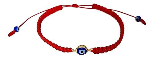 f4cca2198493f3 Lucky Charms USA Evil Eye Red String Bracelet Macrame Braided with Blue  Lucky Eye, Mal