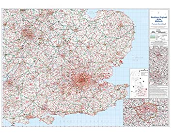 Officeforce Large Laminated Wall Map Of South East England And