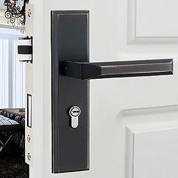 TDJDYQ Innen Schlafzimmer Bad Private Tür Büro Holztür Griffschloss  Haustürschloss Geeignet Für Zu Hause Linke Und
