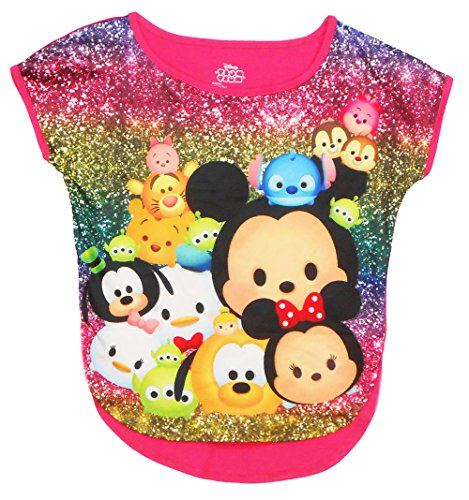 Jasmine Outfit Disney (Disney Girls Tsum Tsum Sublimated Top Pink Small)