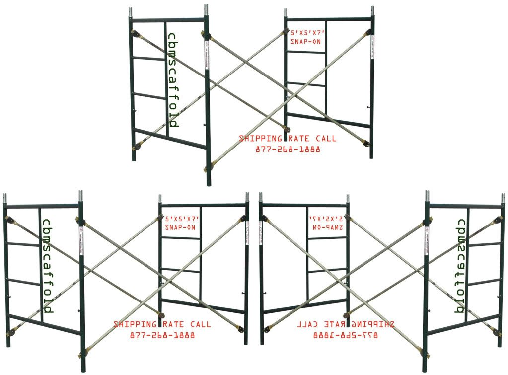 3 Sets of Scaffolding masonry Box frames 5' x 5' x 7' Scaffold CBM1290 by Scaffold Frame Set