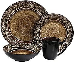 American Atelier 16-Piece Markham Square Dinnerware Set  sc 1 st  Amazon.com & Amazon.com: Brown - Dinnerware Sets / Dining u0026 Entertaining: Home ...