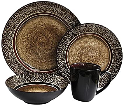 American Atelier 16-Piece Markham Square Dinnerware Set  sc 1 st  Amazon.com : earthenware dinnerware sets - pezcame.com