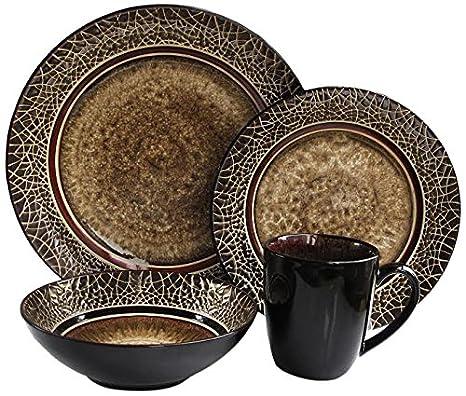 Amazon.com   American Atelier 16-Piece Markham Square Dinnerware Set ...