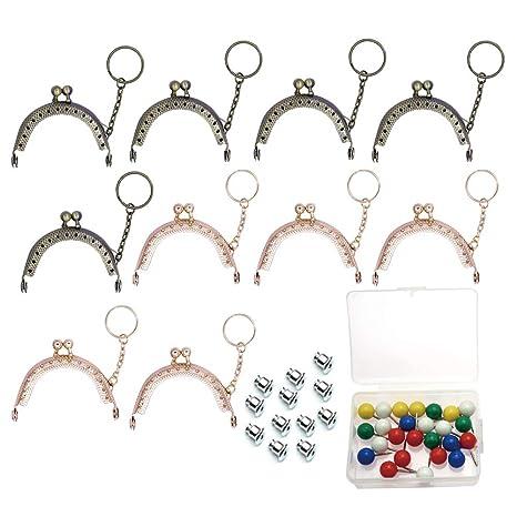 10 piezas de metal con cierre de mosquetón para monedero ...