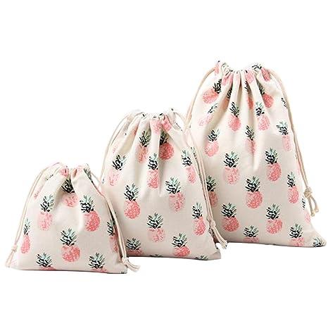 gespout 3 pieza Natural yute Bolsa Bolsa de tela bolsa algodón Lino bolsas bolsitas de regalo