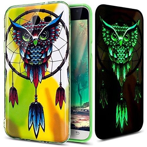 - Galaxy J7 V Case,Galaxy J7 Perx Case,Galaxy J7 Sky Pro Case,ikasus Ultra Thin Soft TPU Case,Luminous Soft Silicone Rubber Bumper Crystal Clear Soft Silicone Back Case for Galaxy J7 2017,Owl Campanula