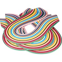 Pandahall Elite 1440 Strips 36 Colors Quilling Paper Strips Quilling Art Strips 7 mm Width 52 cm Length