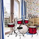 BestMassage Drum sets Children Kids Complete 16 inch Junior Drum with Metallic Red